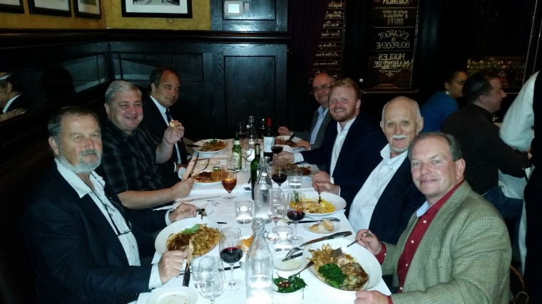 Pictured left to right: Eliahu Stern (Ben-Gurion University of the Negev); Graham Cochrane (University of Leeds); Tomaz Dentinho (University of the Azores); Robert Tanton (University of Canberra); Paul Bidanset (Ulster University); Bob Stimson (University of Queensland); John Lombard (Old Dominion University)